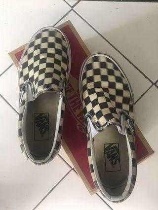 Vans Slip On Checkerboard bluur