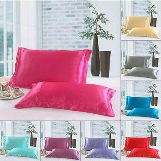 2 Piece Pillow Sheet Cover Silky Silk Imitation