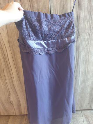 Education purple lace tube dress