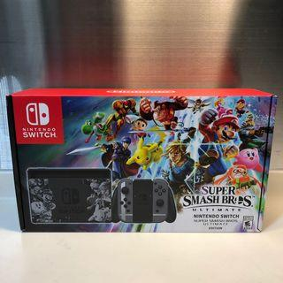 SALE BNIB Nintendo Switch Console Super Smash Bros Ultimate Edition with game LIMITED EDITION LOCAL SET