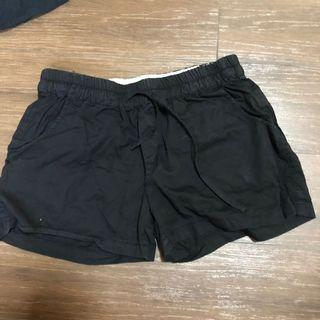 Black Shorts used preloved with back and front pocket  size S to size M