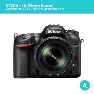 [Camera Rental] Nikon D7200 with Lenses