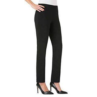 Hilary Radley Narrow Slim Leg, Sits at the waist Pull on Pants Black Trousers