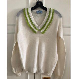 PRADA Ruffle-Trimmed Cashmere Sweater