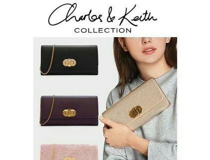 AUTH CHARLES KEITH WALLET BAG