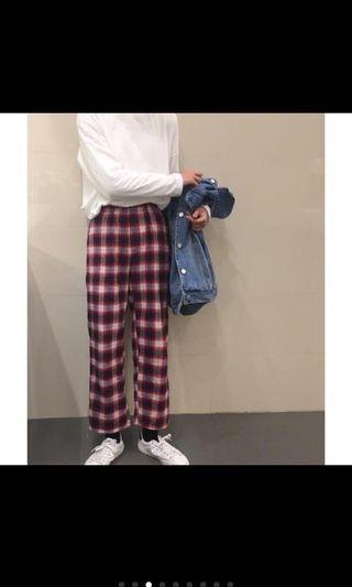 🚚 格紋褲