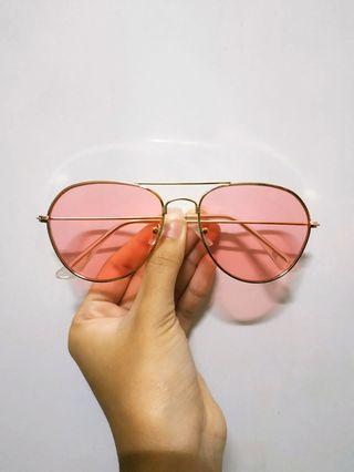 Aviator Style Pink Ray sunglasses