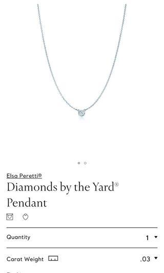 Tiffany and Co diamonds by the yard pendant