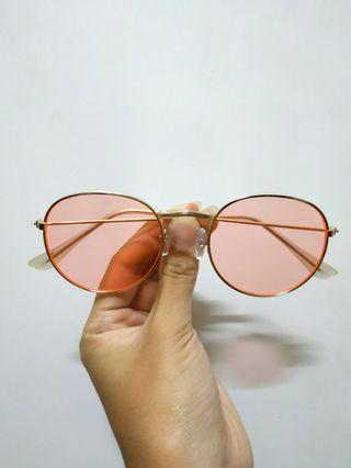 Round Pink Ray sunglasses