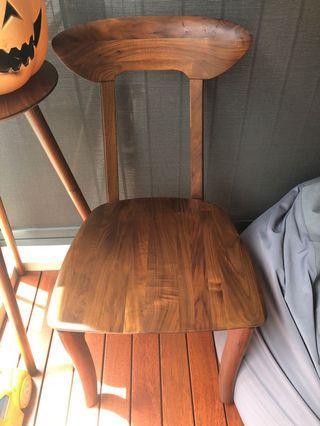 🚚 Black walnut wooden Chair