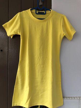 BN Yellow Slit Dress #ENDGAMEyourEXCESS