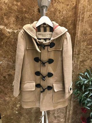 真品Burberry經典羊毛牛角釦大衣外套