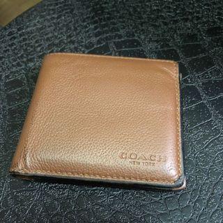Coach Men Leather Wallet - bifold, brown