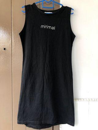 🚚 BN Minimalist Black Midi Dress #ENDGAMEyourEXCESS