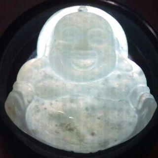 🌟Grade A Laughing Buddha Jade Pendant  From Myanmar - T4🌟