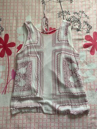 Something borrowed tie back top in prints