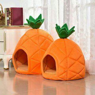 [Pre-Order] Pineapple Design Pet House Cat Dog Warm Cave Nest Cozy Soft Sleeping Bed