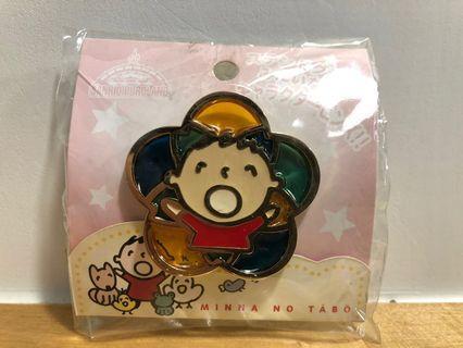 全新絕版大口仔 Minna No Tabo襟章 pin 購自日本Kitty land Sanrio 2005