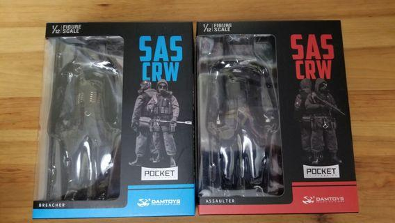 SAS CRW 特種部隊 1比12 一SET兩盒 Assaulter Breacher DAM TOYS