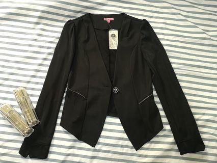 全新西裝外套(黑色)