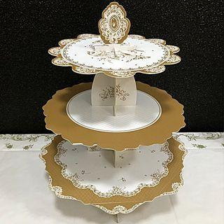 Party Porcelain 3 Tier Cake Stand