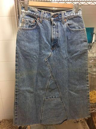 Levis Midi Denim Skirt