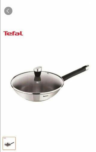 Tefal emotion stainless steel wok pan 28cm /frying pan