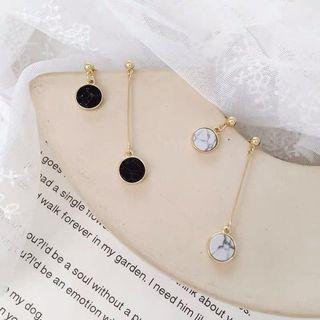 🚚 Korean Earrings White Marble Design (white only)