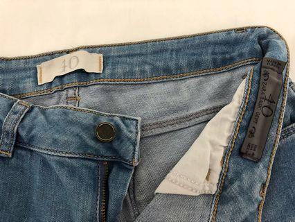 Zara Basics Distressed Denim Jeans - Size 40