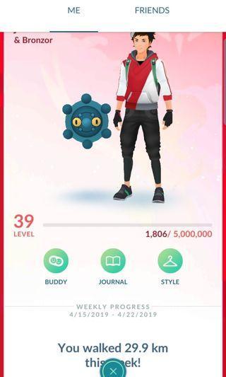 Pokemon Go Account Level 39