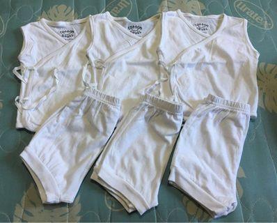 Cotton Stuff Side-Tie Shorts Set