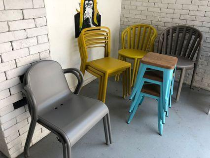 🚚 Stackable Outdoor Chairs