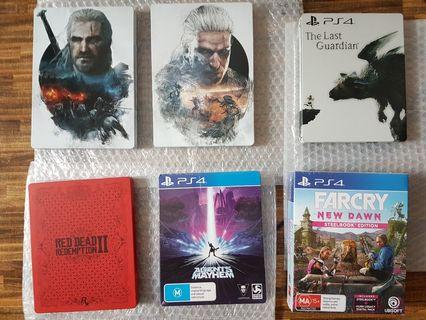 PS4 Games and Steelbook