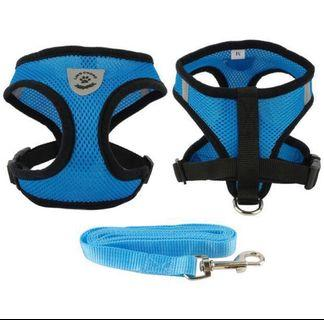 Dog harness (blue )