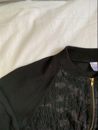 H&M Embroidered Bomber Jacket