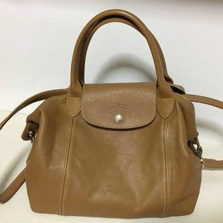Longchamp Le Pliage Cuir (leather)