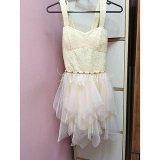 (Free Postage) Sleeveless Layered Tulle Short Dress / Princess Dress