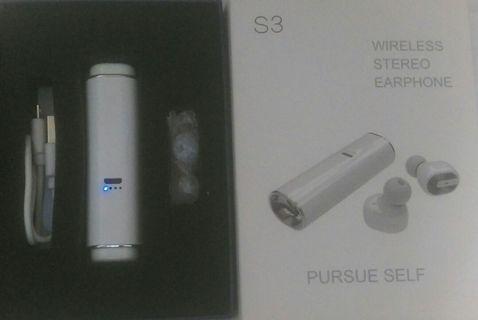 🚚 S3 藍芽耳機_經典白(磁吸充電)