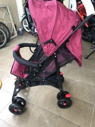 Baby Stroller NEW (Blue/Maroon) Negotiable