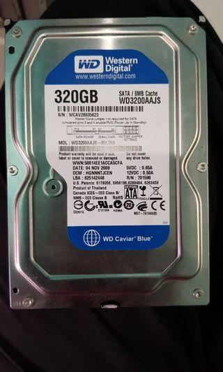 320GB used hard disk WD #spareforfix