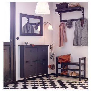 IKEA HEMNES Mirror dark brown wood finishing