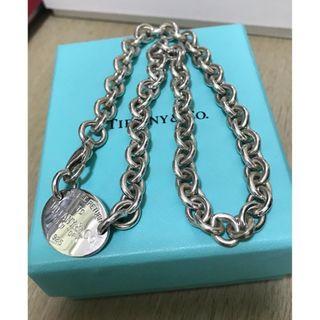 原價$3600 Return to Tiffany Oval Tag Necklace