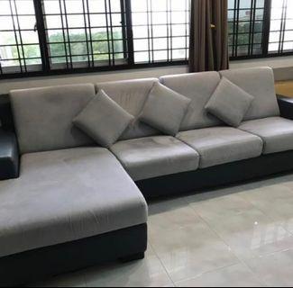 🚚 *Negotiable* L Shaped Sofa