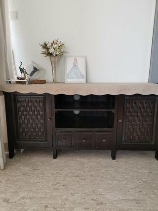 🚚 Old Teak Wood TV Console *Reserved*