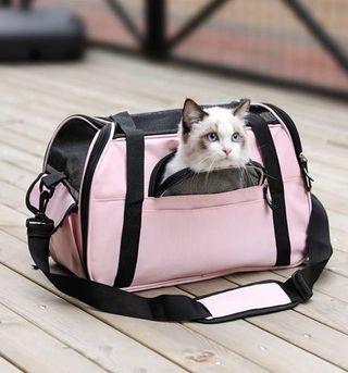 🚚 Pet Carrier Bag Pink - Cat Dog