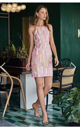BNWT TCL LAUDRIE WATERCOLOUR PRINTED DRESS