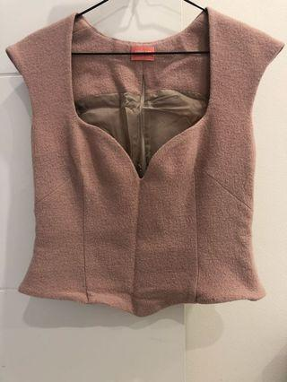 Yeojin bae virgin wool bustier top