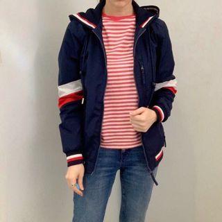 💗《現+預》⭐️新款上市⭐️ 日本Tommy Hilfiger 女款防水防風拼色風衣外套