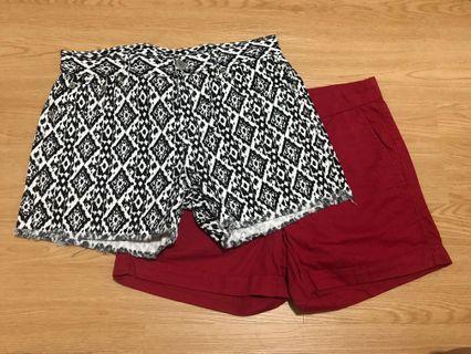 Lowry's Farm Black and White Monochrome Shorts , Red Giodarno Shorts