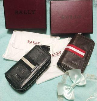 Bally Triot Leather Key Holder and Coin Wallet